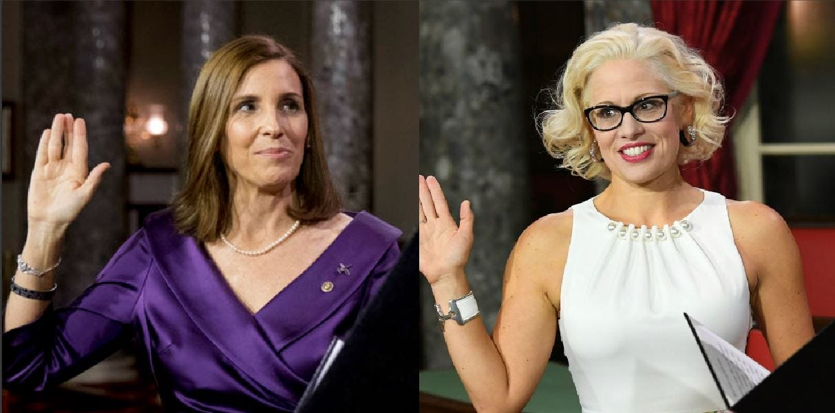Sens. Kyrsten Sinema, Martha McSally avoid media as shutdown drags on