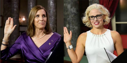 Sens. Martha McSally and Kyrsten Sinema