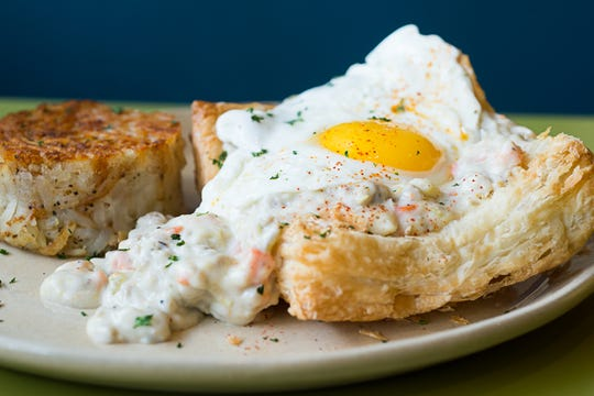 The breakfast pot pie at Snooze, an A.M. Eatery.