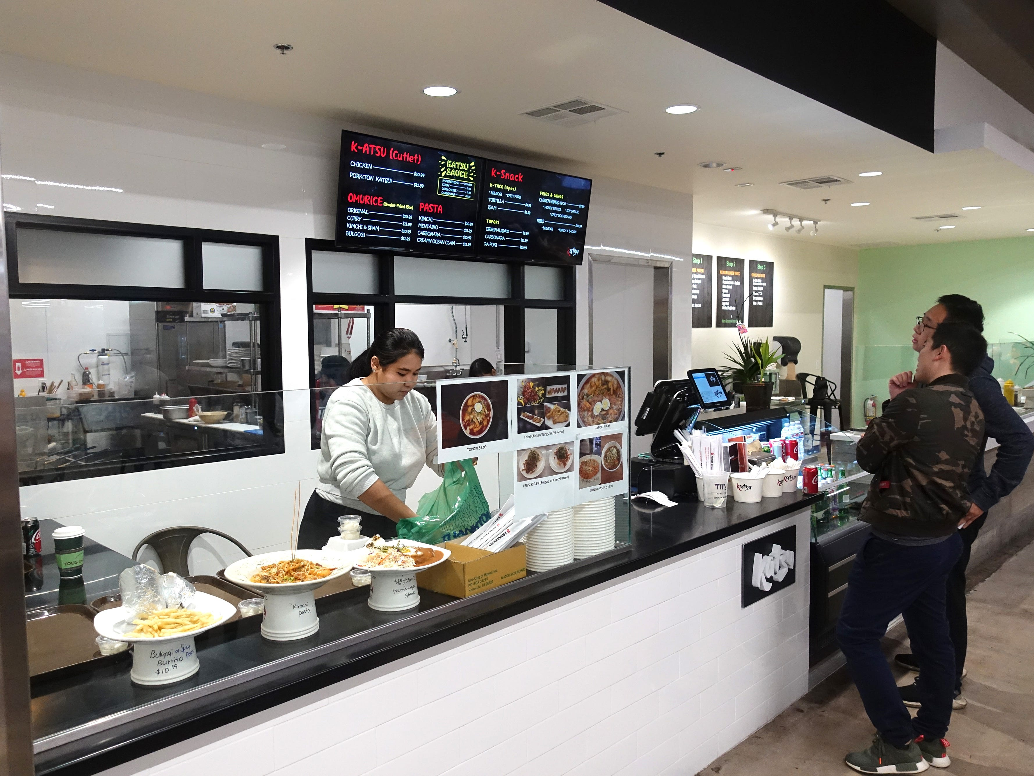 Katsu, a new food counter featuring Korean fusion dishes in the food court at Asiana Market in Mesa.