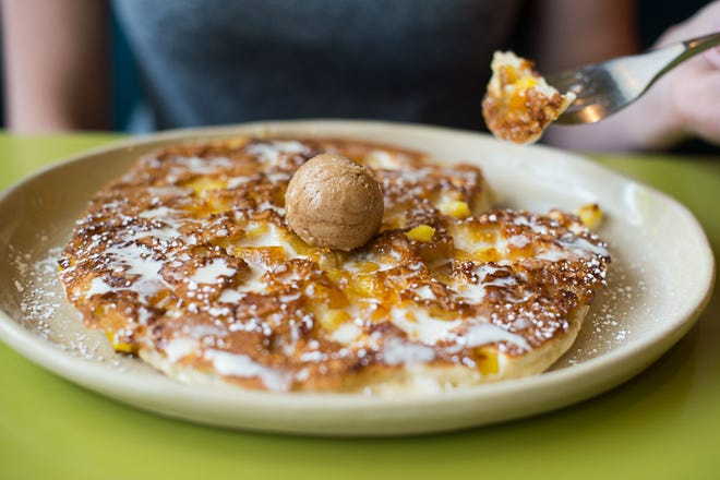 Pineapple upside down pancakes at Snooze, an A.M. Eatery.
