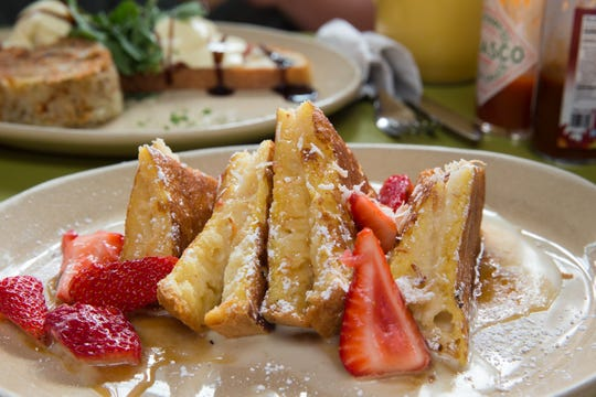 The OMG French toast at Snooze, an A.M. Eatery.