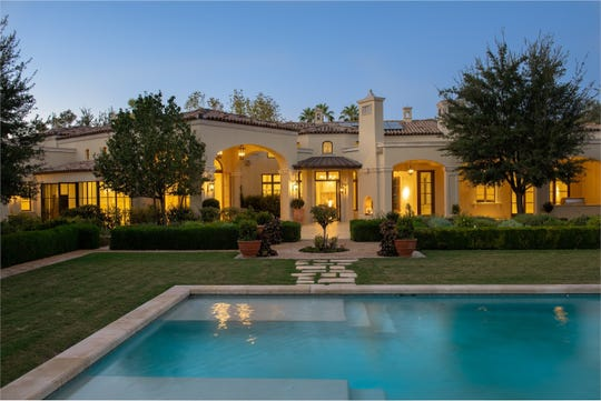 This Paradise Valley estate purchased by John Thomas Winterling includes a pool, mature garden landscaping and a solar photo-voltaic system.