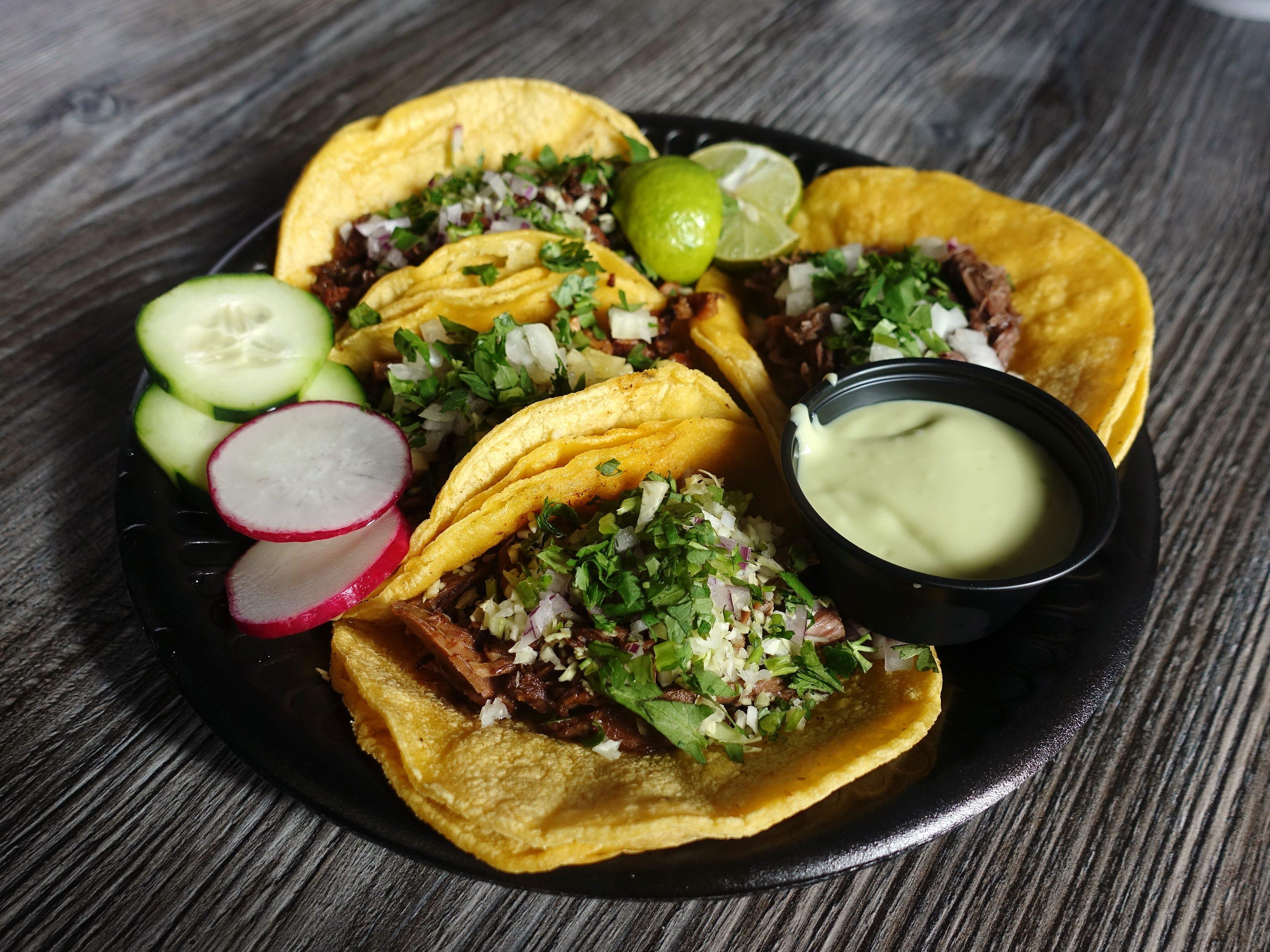 Tacos at Tacos Culichi in Phoenix.