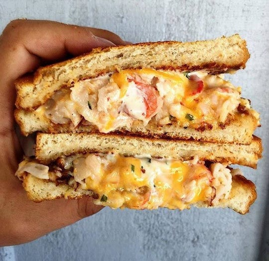 The Slapfish clobster grilled cheese.