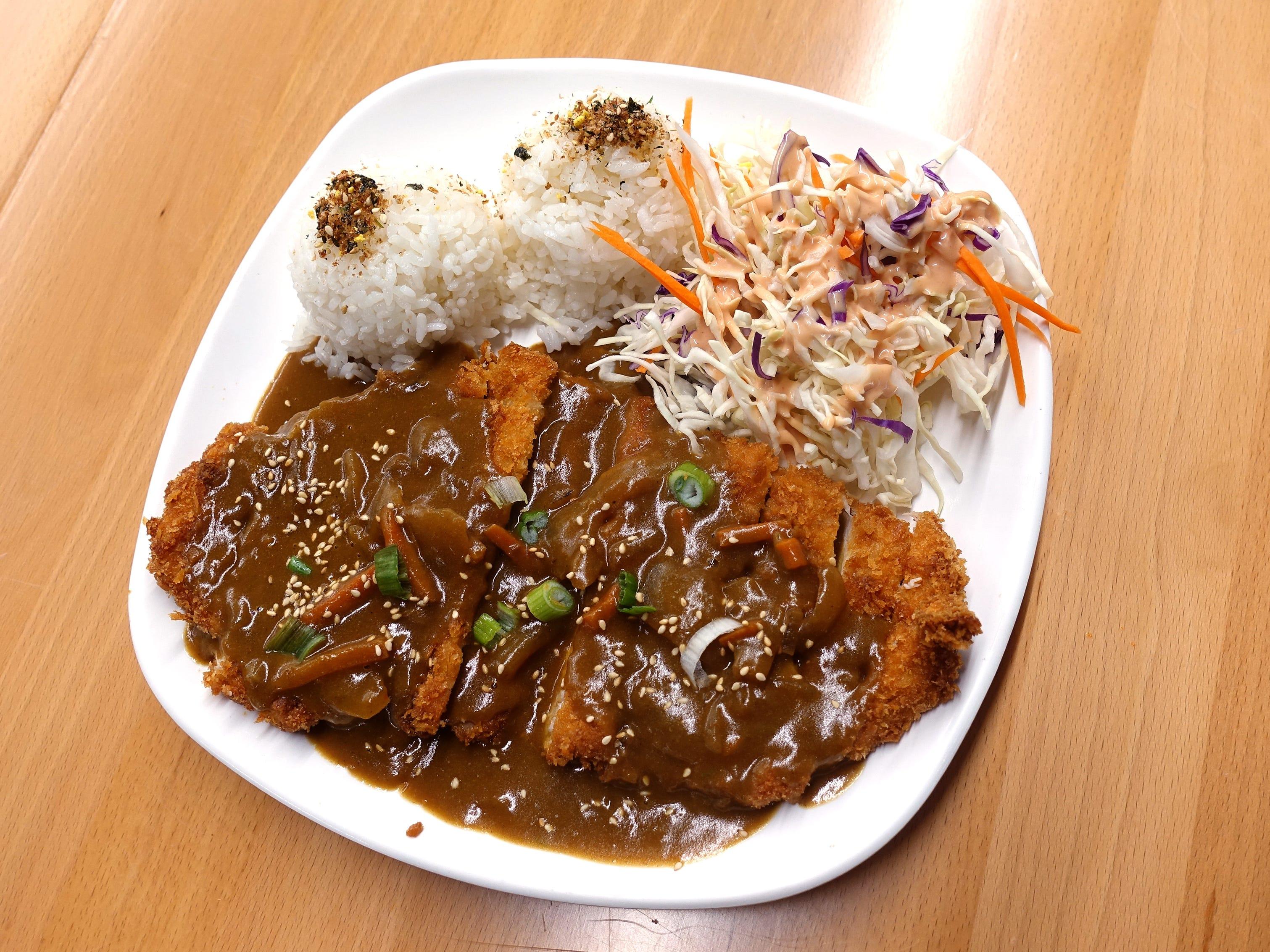 Curry tonokatsu at Katsu at Asiana Market in Mesa.
