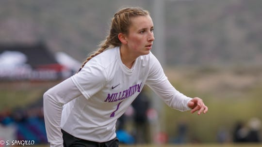 Gabby Sangillo of Millennium is the Girls Athlete of the Week.
