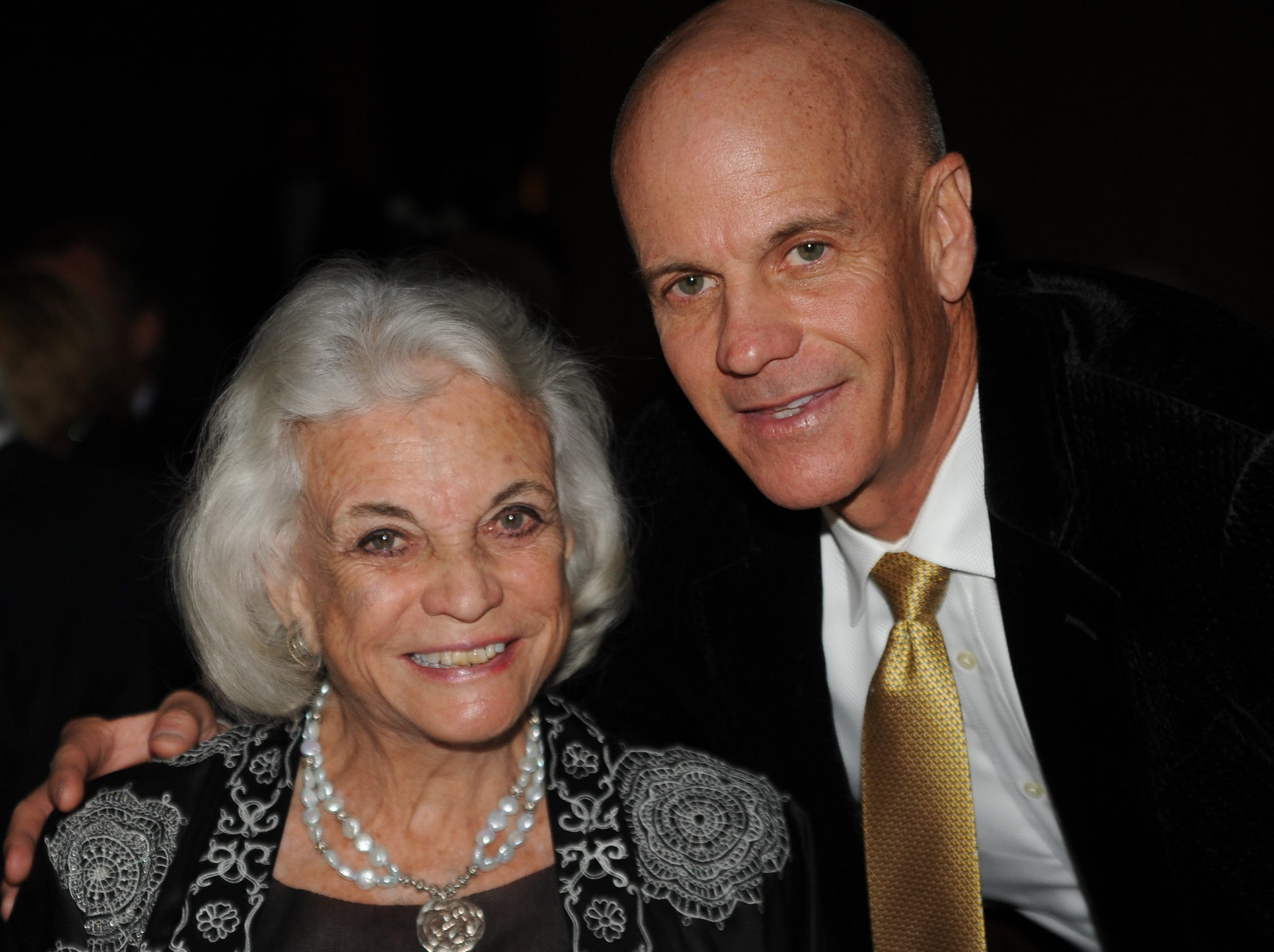 Brian Day O'Connor with his mother, Sandra Day O'Connor, in 2012.