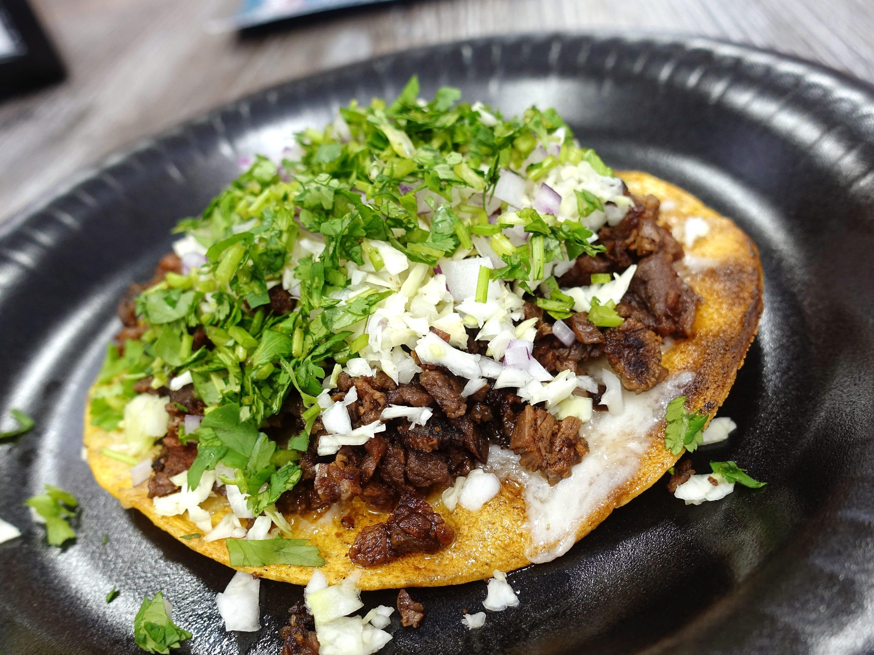 Carne asada vampiro at Tacos Culichi in Phoenix.