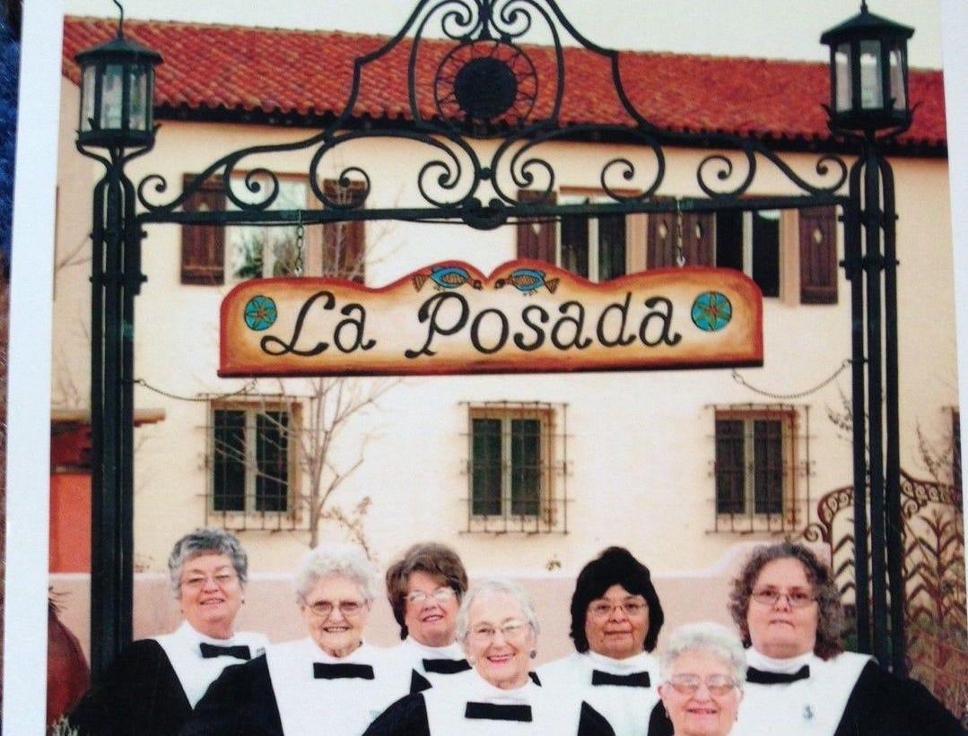 Winslow Harvey Girls frente al Hotel La Posada, en el norte de Arizona.