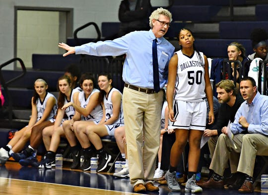 Dallastown girls' basketball coach Jay Rexroth, seen here in a file photo from last season, picked up his 300th career coaching victory on Saturday. Dawn J. Sagert photo