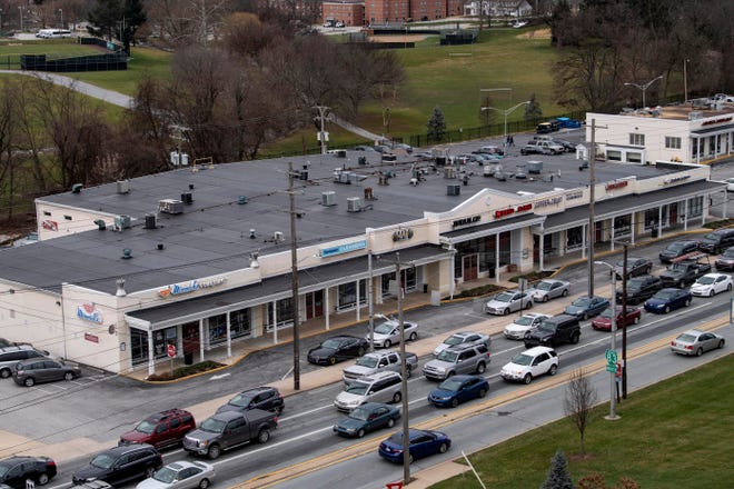 York College of Pennsylvania has spent nearly $8 million acquiring property near the college's South George Street entrance. Though purchased in Jan. 2018, the college still has no solid plans for the stretch of properties, seen here Thursday, Jan. 3, 2019.