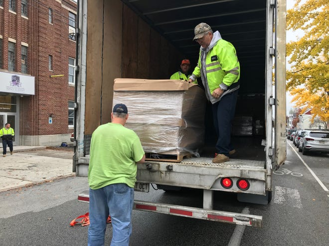 About 20,000 new books were delivered to Salem Square in York as part of the First Book Initiative created by the York Alumnae Chapter of Delta Sigma Theta Sorority.