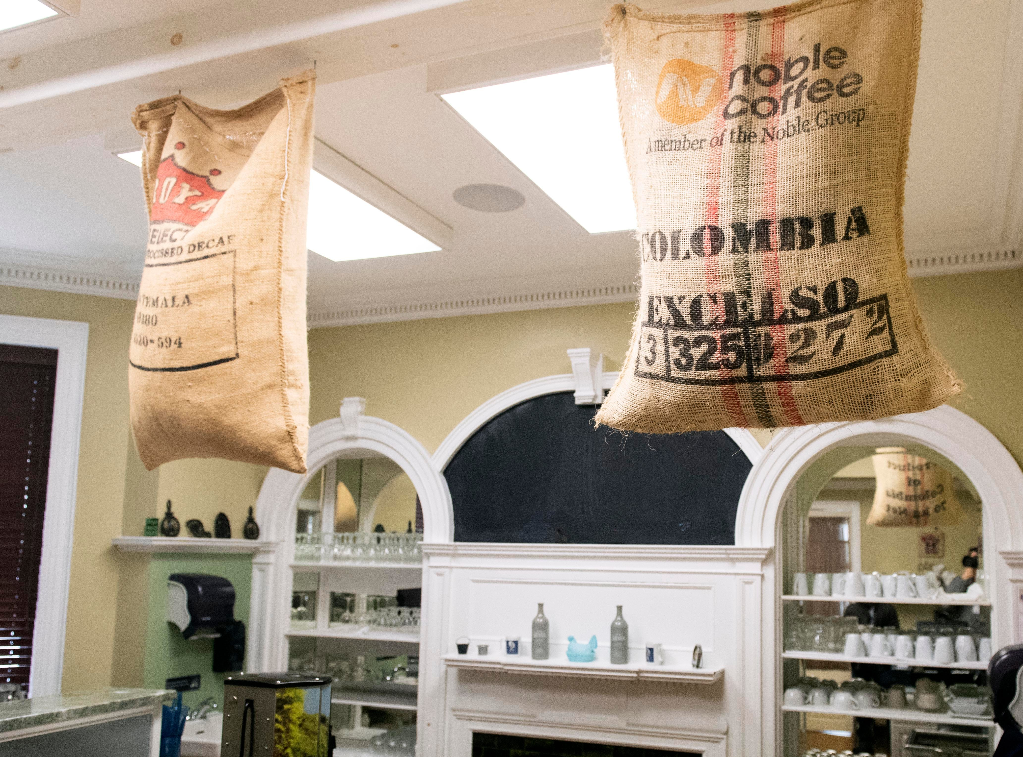These coffee bags hanging over the servers' station at HomeGrown were remnants from the Front Porch Cafe, which closed in March of 2018. HomeGrown, the new restaurant in the historic Frey Mansion is set to open Jan. 10, featuring an American-style menu with a French twist.