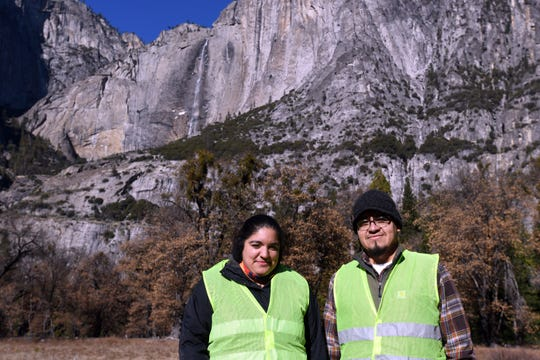 Anthony Martinez, 42, and Jessica Garcia, 29, both spent their days off from work at nearby Tenaya Lodge to pick up trash inside Yosemite durirng the 2018/19 government shutdown.