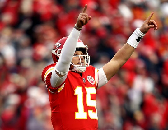 Kansas City Chiefs quarterback Patrick Mahomes, who was the NFL's Most Valuable Player last season, was the featured speaker at the Rochester Press-Radio Club's Day of Champions dinner on Wednesday at the Rochester Riverside Convention Center.