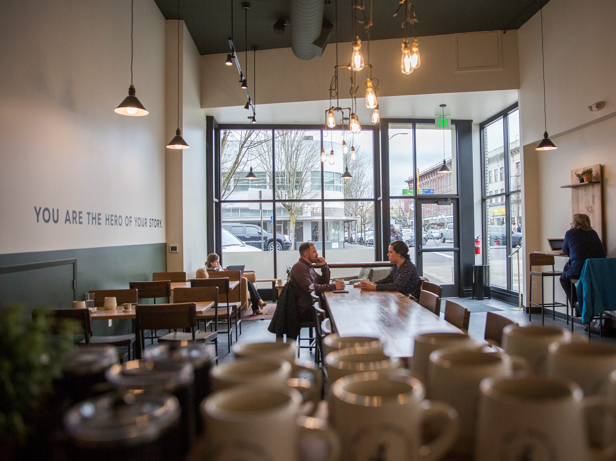 Isaac's Downtown, a new café in downtown Salem on Thursday, Jan. 3, 2019. The coffee shop is from the owners of IKE Box and Isaac's Room.