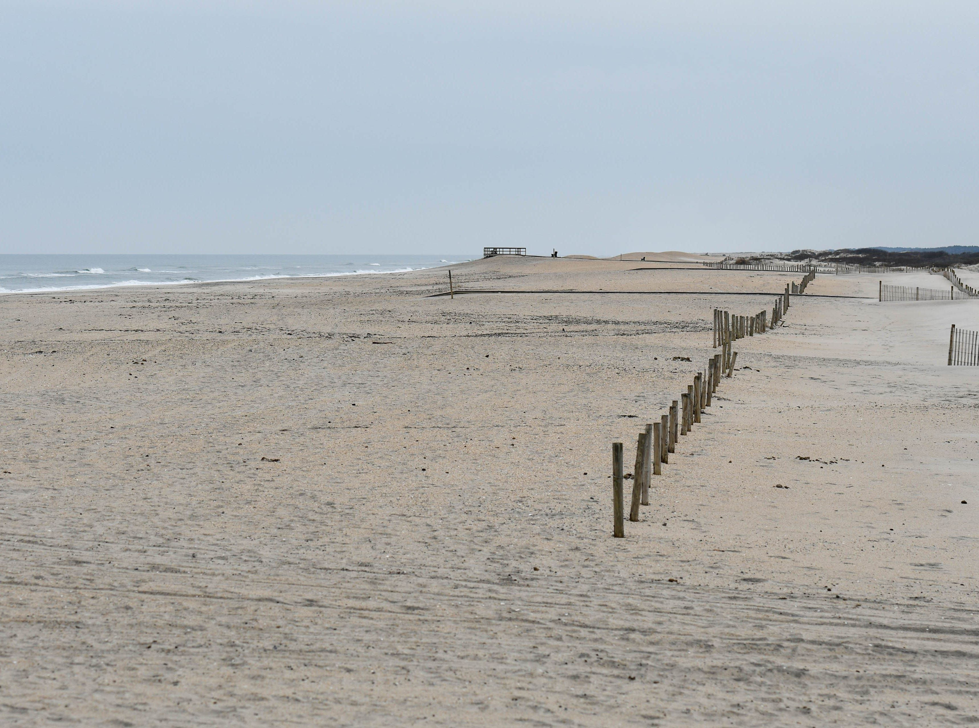 The beach is quiet at Assateague National Park on Thursday, Jan 3, 2018. The park remains open during the federal government shutdown, however visitors services are not being provided.