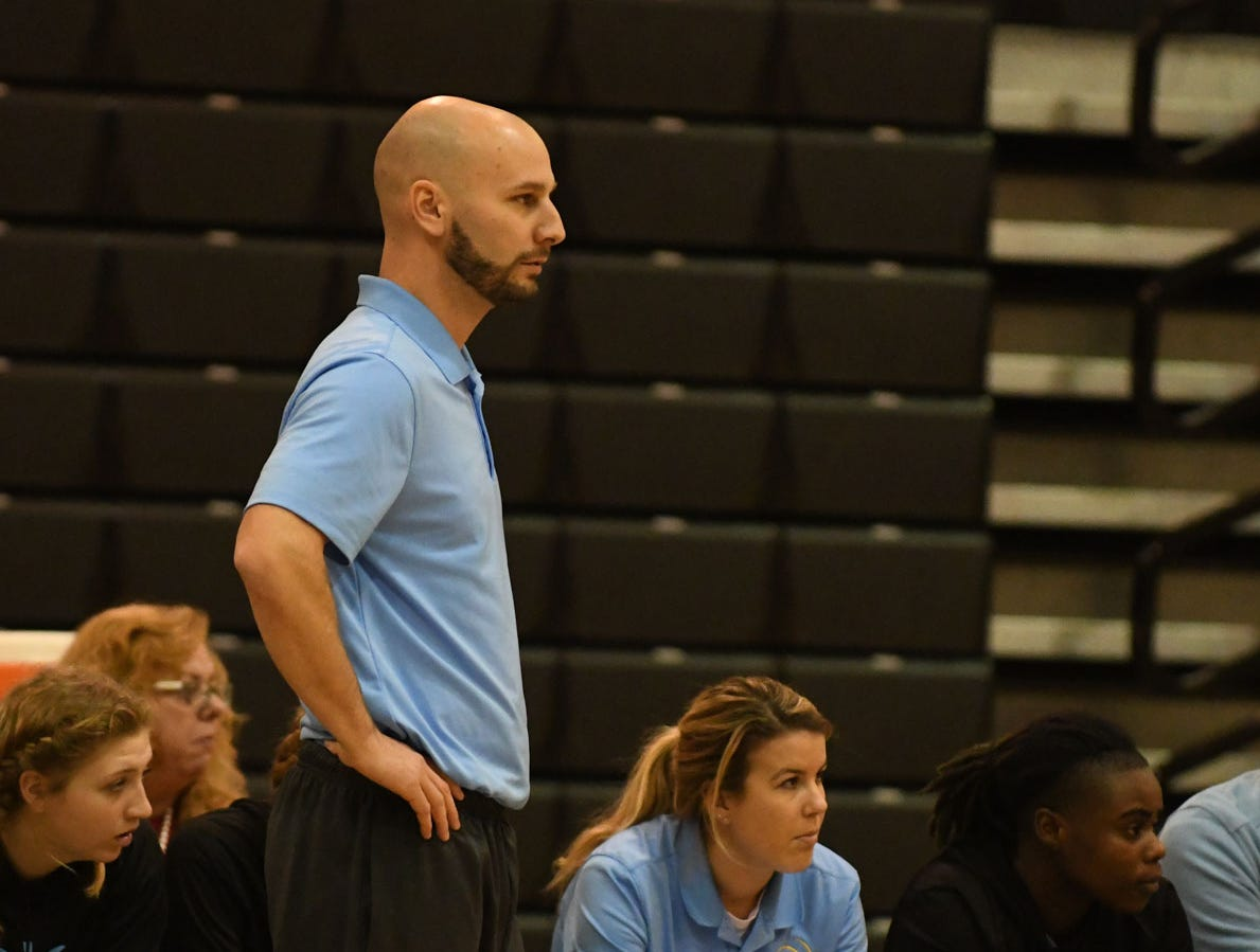 Cape Henlopen Head Coach Pat Woods during the game against Sussex Tech on Wednesday, Jan. 2, 2019.