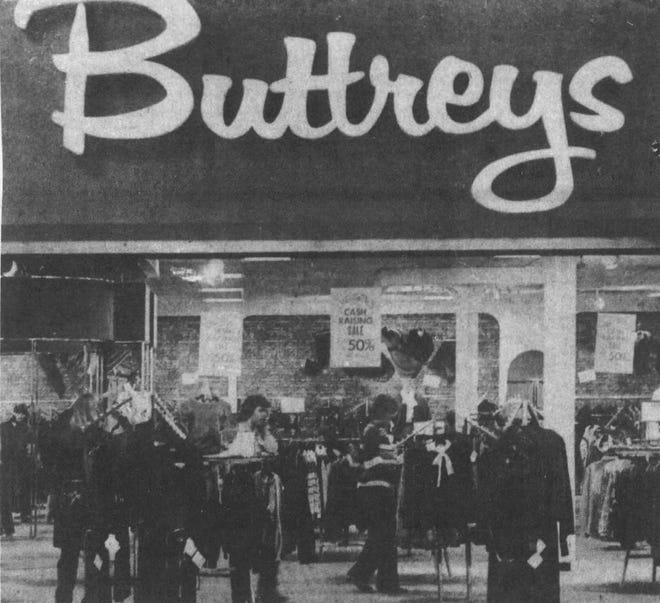 Buttrey's Store opened in the Empire Mall in the mid 1970s.