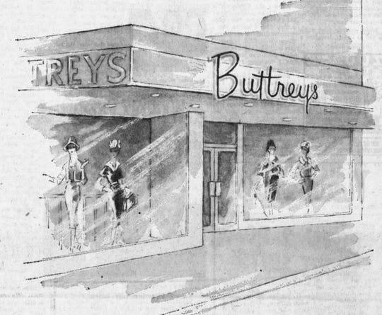 Buttrey's Store renovation illustration.