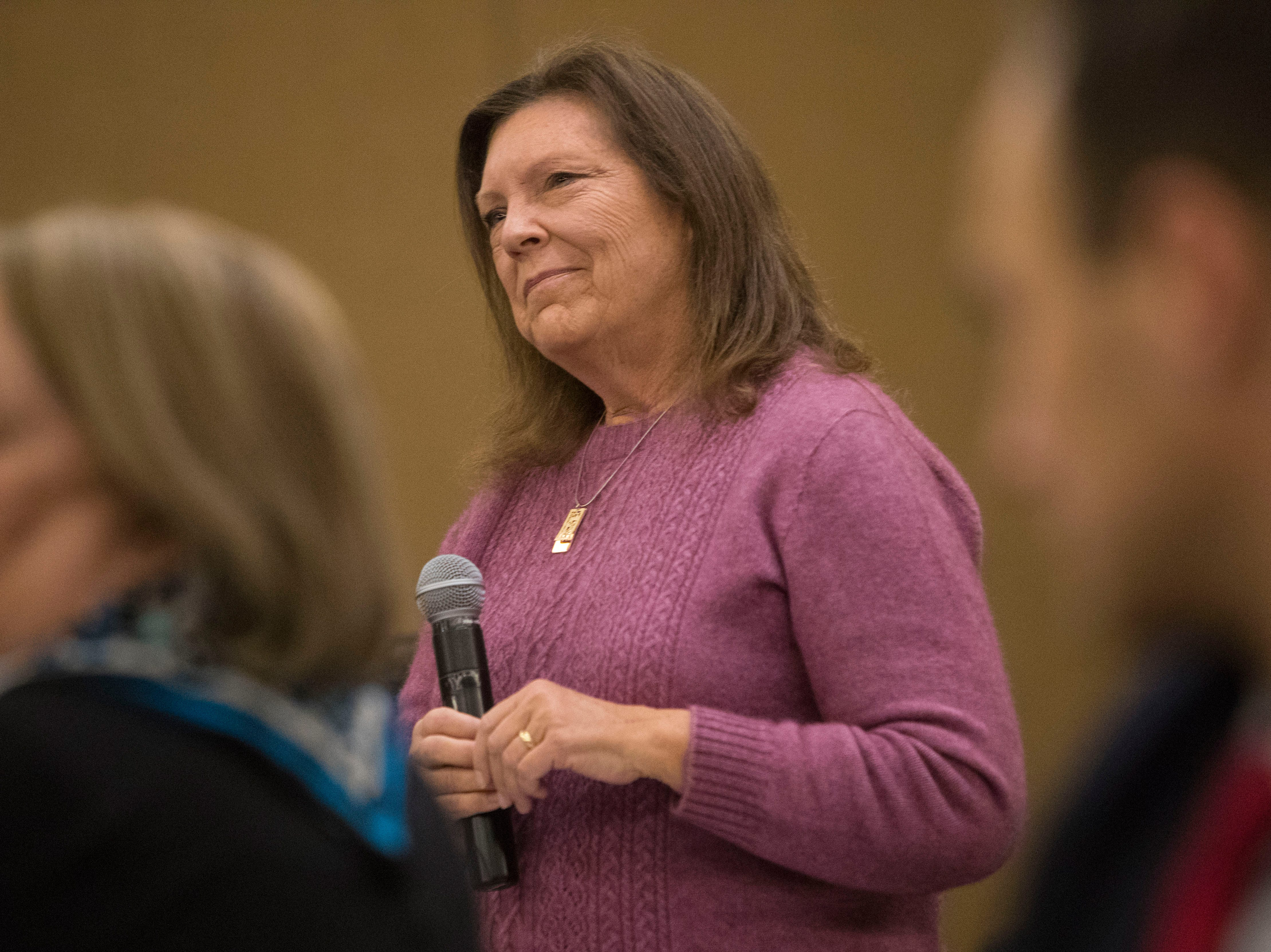 Rep. Rhonda Milstead, District 9, speaks at the Chamber of Commerce legislative breakfast, Thursday, Jan. 3, 2019 at the Best Western Plus Ramkota Hotel in Sioux Falls, S.D.