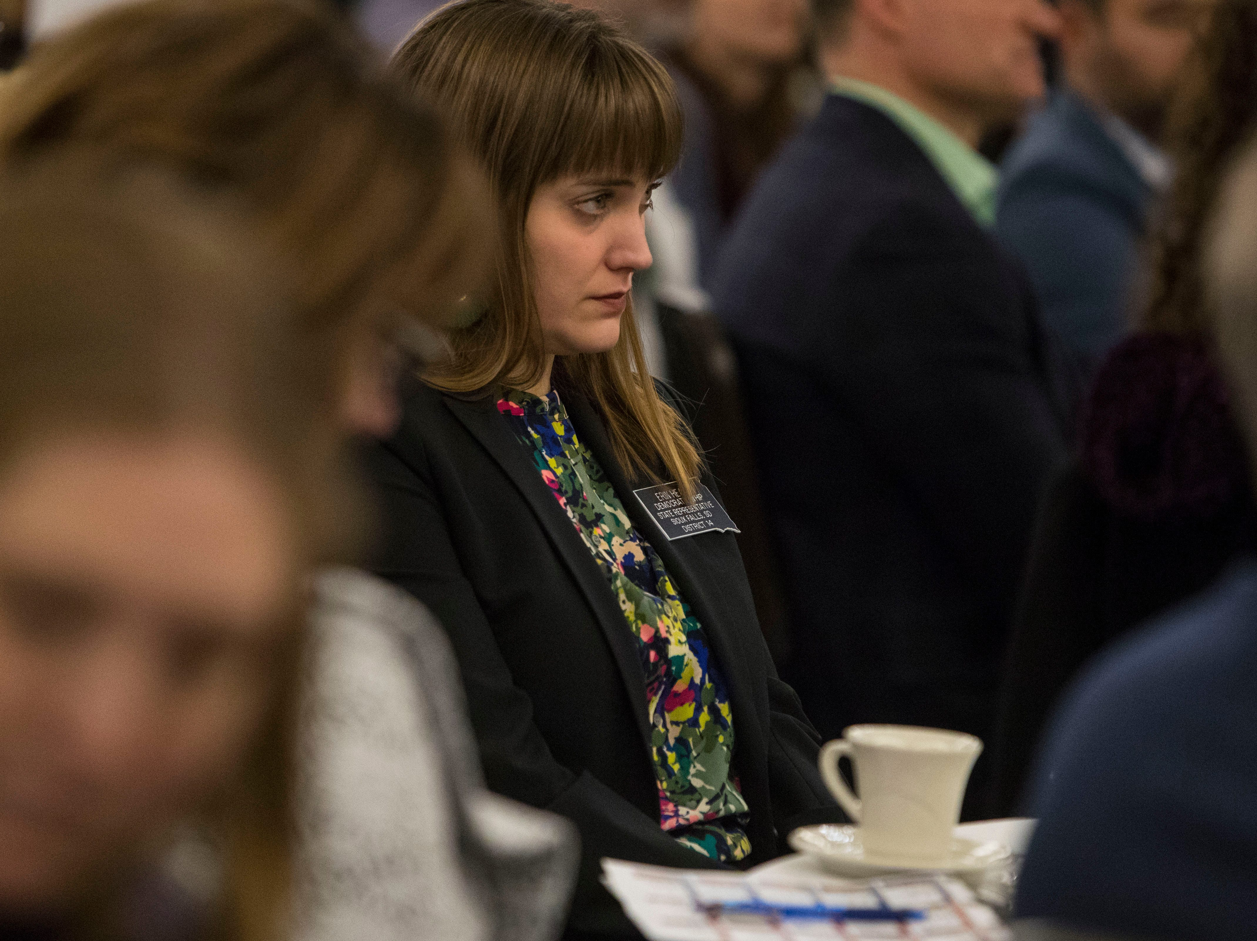 Rep. Erin Healy, District 14, attends the Chamber of Commerce legislative breakfast, Thursday, Jan. 3, 2019 at the Best Western Plus Ramkota Hotel in Sioux Falls, S.D.