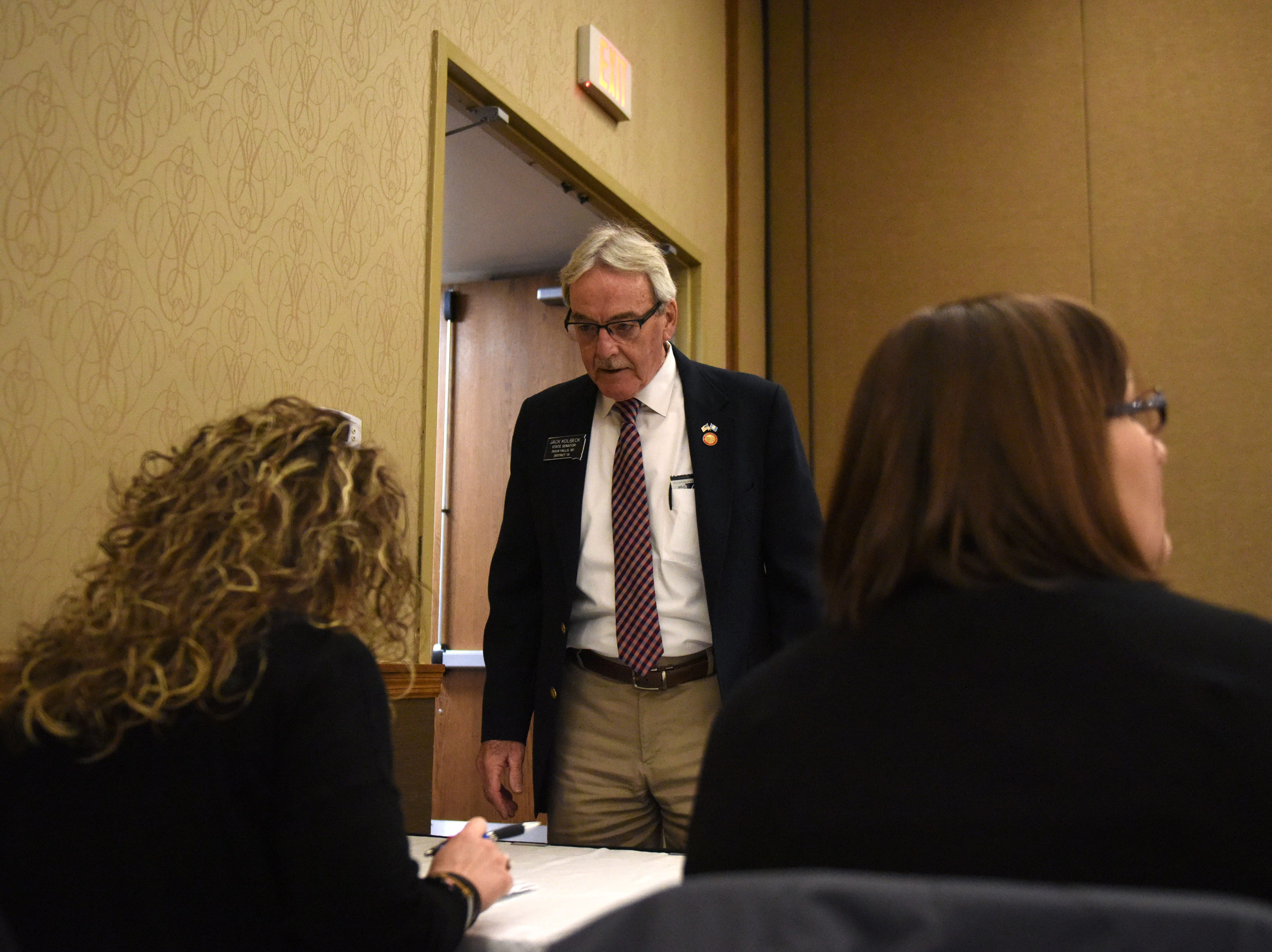 Senator Jack Kolbeck attends the Chamber of Commerce legislative breakfast, Thursday, Jan. 3, 2019 at the Best Western Plus Ramkota Hotel in Sioux Falls, S.D.