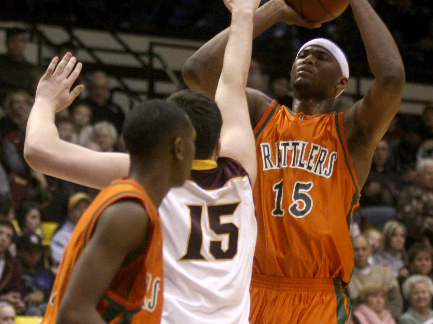 Leflore's DeMarcus Cousins shoots over Christ the King's Dominyka Milka during a past Tournament of Champions game.