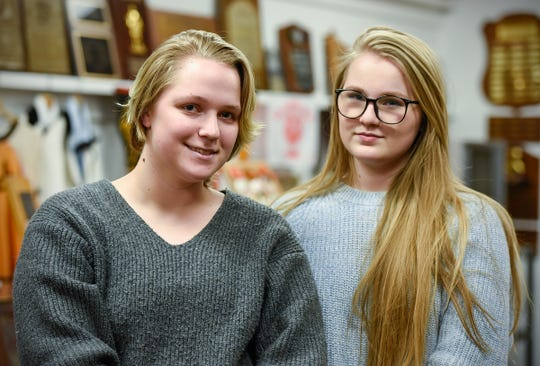 Youth Voice group organizers Chelsea Cremers, 17, and Emily Roiland, 18, talk about the progress the group has made Wednesday, Jan. 2, at St. Cloud Technical High School.