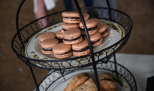 Macaroons are on display during a press conference Thursday, Jan. 3, to announce the upcoming opening of the restaurant Krewe at the 24 North Lofts development in St. Joseph.