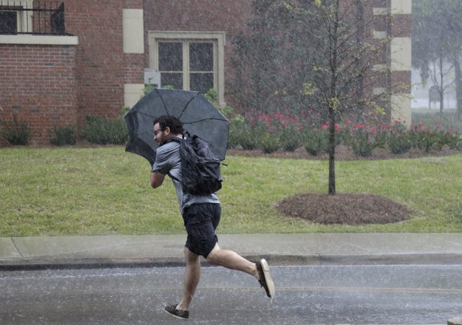 File art of a rainy day in Tallahassee