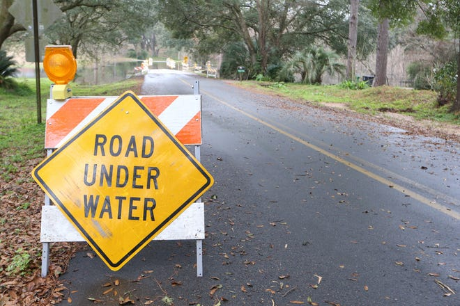 Flash flood warnings from the National Weather Service-Tallahassee also were in effect for parts of the Big Bend.