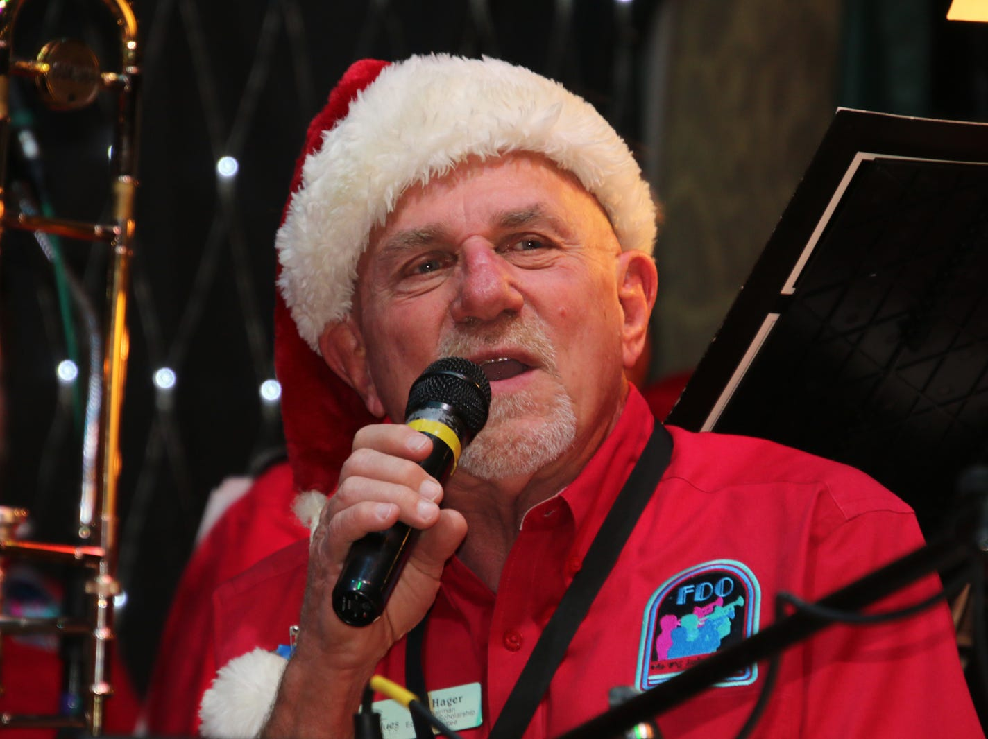Al Hager leads the For Dancers Only Big Band at the Fort Pierce Jazz & Blues Society's  Ring-a-Ding-Ding Holiday Fling at Summer Crush Vineyard & Winery.