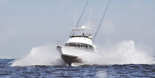 The new Bertram 35 will be on display at the Stuart Boat Show.