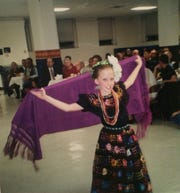 Khayla Jordan Golucke dancing folklorico as a youngster growing up in El Paso.