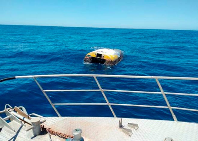 "This Wednesday photo supplied by South Australia Police shows the upturned sloop Wild Eyes that was found drifting off the Australian coast on Dec. 3. Former Thousand Oaks sailor Abby Sunderland says her ""heart skipped a beat"" with news the yacht she abandoned in the remote Indian Ocean in 2010 during an ill-fated round-the-world attempt has been found off the Australian coast."