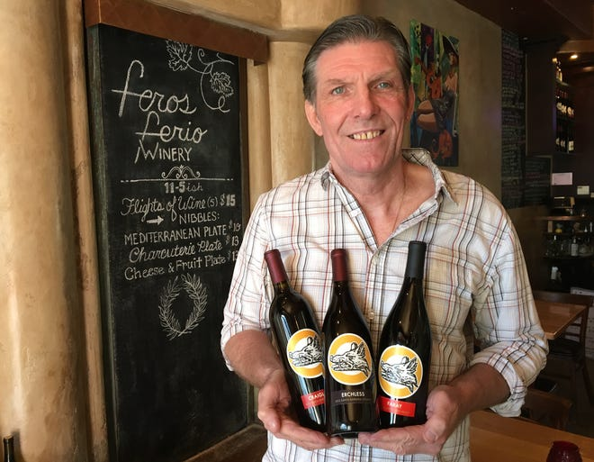"""Nigel Chisholm, owner of The Vine wine bar in Ojai, has launched Feros Ferio Winery, a label named for the motto on his ancestral family crest. The phrase is Gaelic for """"I am fierce with the fierce."""""""