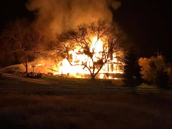 On Wednesday night, Tulare County firefighters were called to the blaze in the 31000 block of Gray Drive in Exeter.