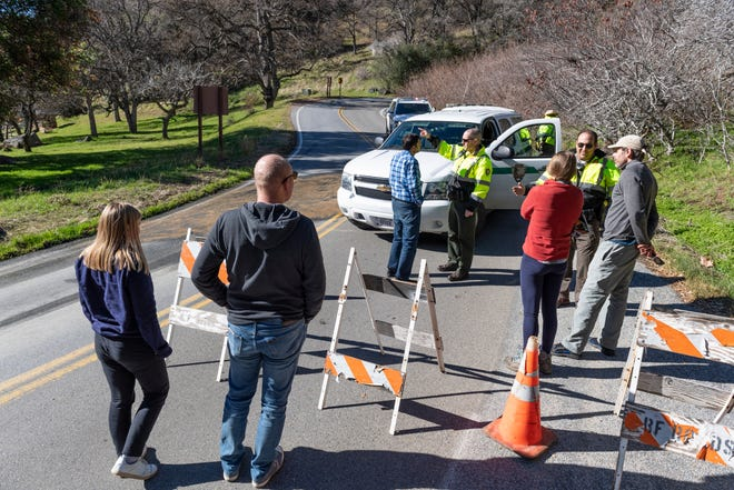 Hundreds of Sequoia National Park visitors were turned away at Hospital Rock on Generals Highway as staff deals with the partial shutdown on Wednesday, January 2, 2019. Officials announced that the entire park would be closed this evening.
