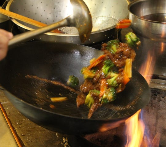 Beef and broccoli at Chang Garden in Wausau, Wednesday, November 26, 2014.
