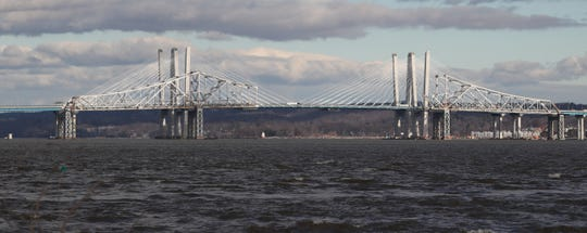 Preparations are underway for the demolition of the remaining sections of the Tappan Zee Bridge, as seen from the Piermont Pier Jan. 3, 2019.