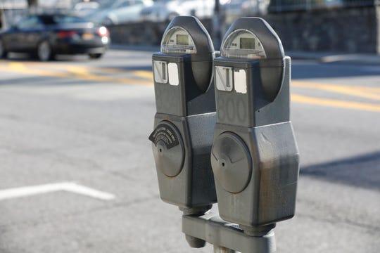 Parking meters on Bedford Road in Pleasantville on Jan. 3, 2019.