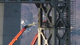 Preparations are underway for the demolition of the remaining sections of the Tappan Zee Bridge Jan. 3, 2019.