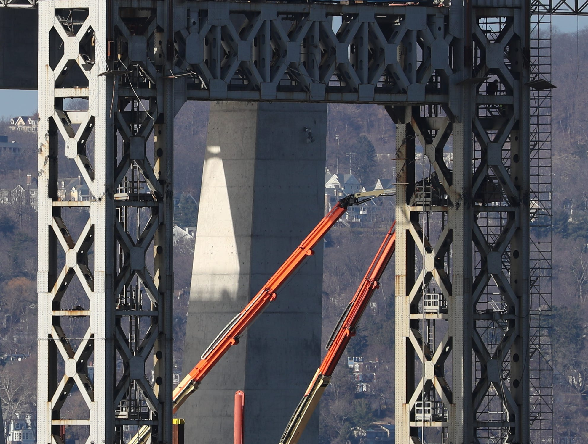 Preparations are underway for the demolition of the remaining sections of the Tappan Zee Bridge, as seen from Tarrytown Jan. 3, 2019.