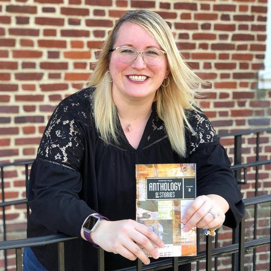 Cindy Cavett With Book