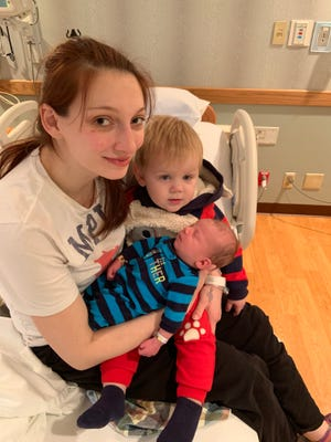 Camden Wynne is the first baby born in Wisconsin Rapids in 2019.