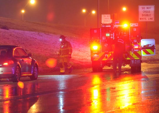 Wichita Falls emergency medics and police respond to several reports of motor vehicle accidents Wednesday night as winter weather threatened the area.