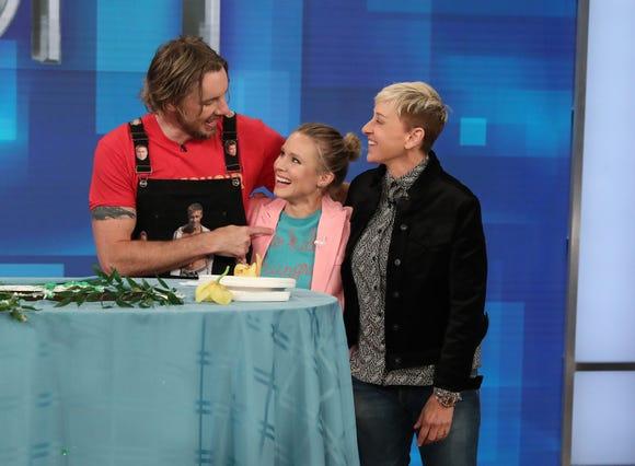 Dax Shepard with Kristen Bell and Ellen DeGeneres