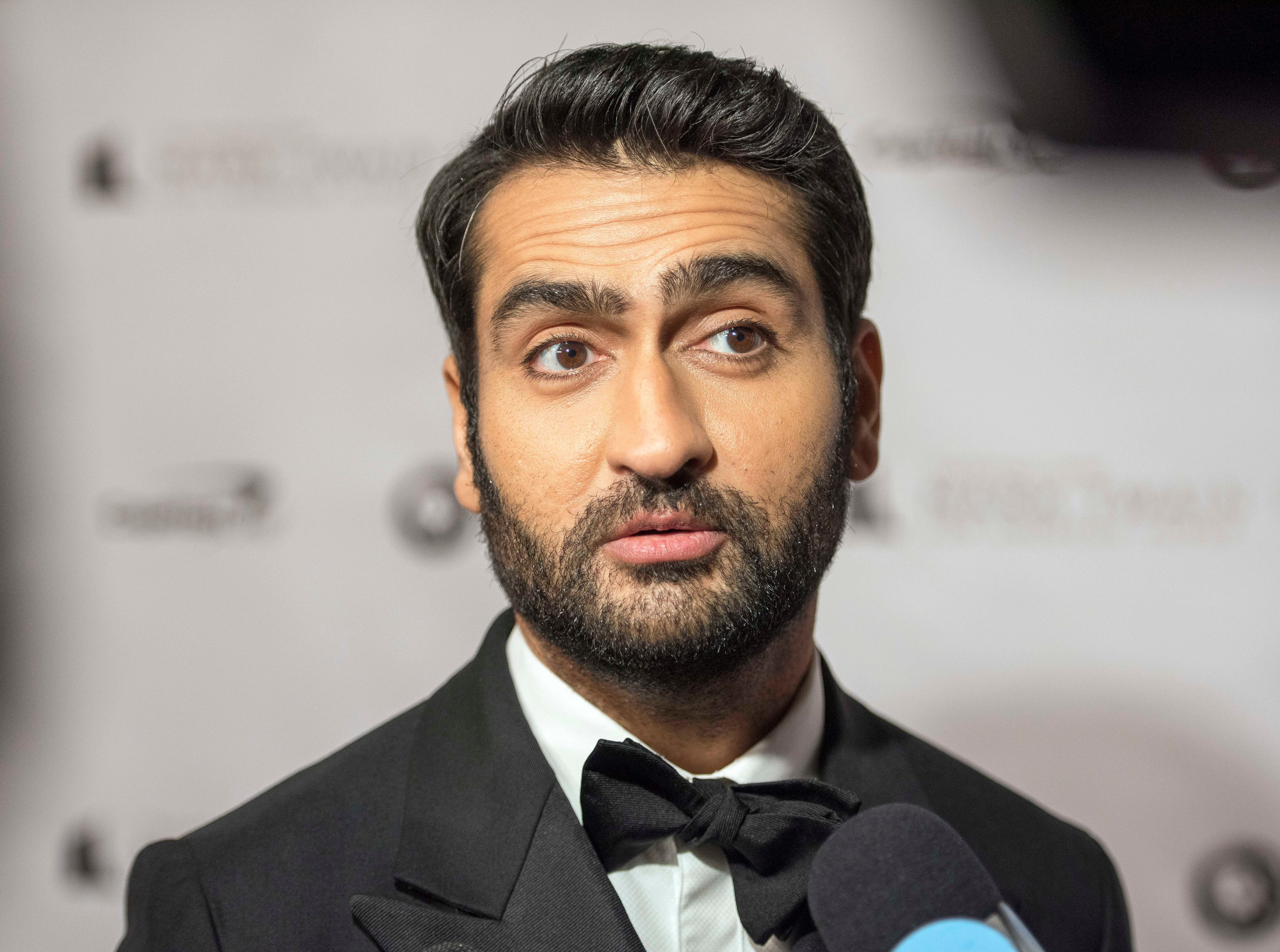 Oct 21, 2018; Washington, DC, USA; Kumail Nanjiani in attendance as Julia Louis-Dreyfus (not pictured) walked away with the Mark Twain Prize and a pretty good roasting by her fellow celebrities at the Kennedy Center. Photo by  Matthew Sobocinski-USA TODAY Staff   ORIG FILE ID:  20181022_ajw_usa_007.jpg